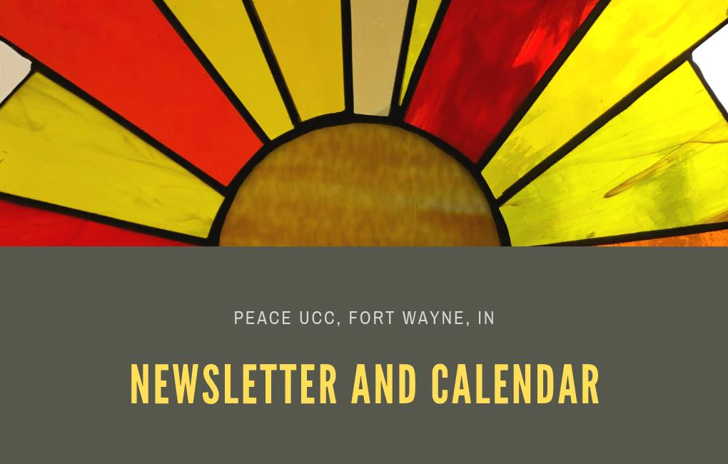 News and Calendar Peace UCC